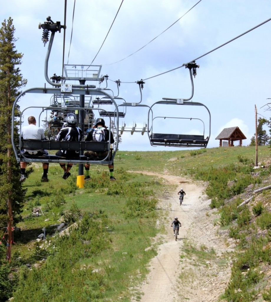 Chairlift To Top Of Winter Park Resort. The Trestle Park. The Heidi Guide. Photo By Heidi Kerr Schlaefer.