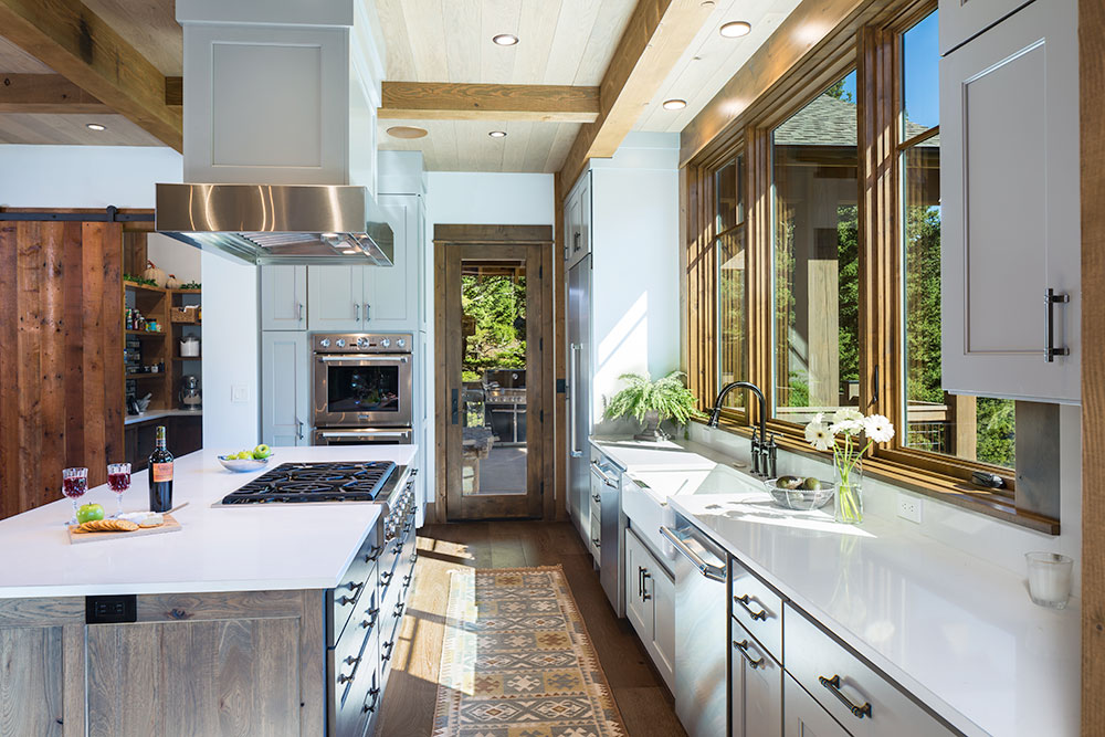 Kitchen, A Family Getaway Built Into The Hillside, Brechbuhler Architects, Mountain Living Magazine