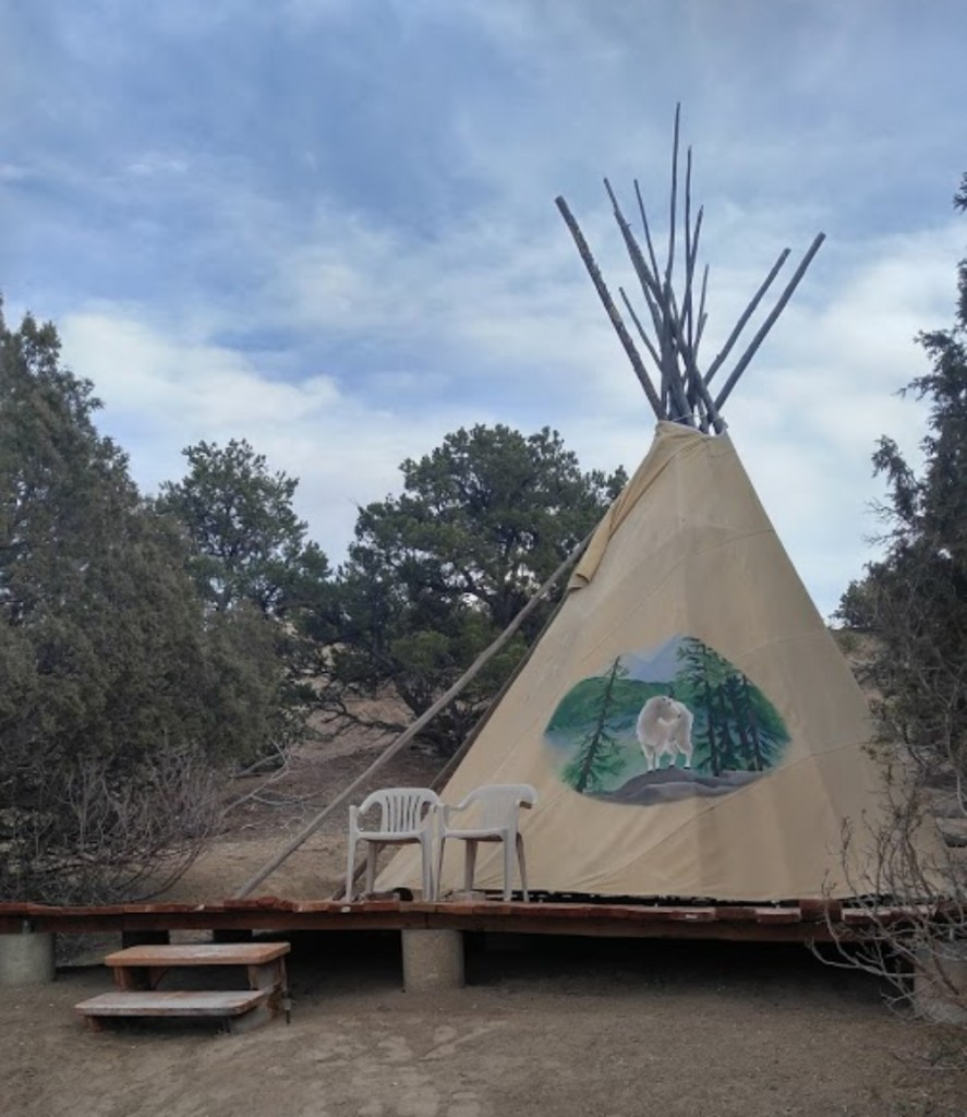 Exterior Tipi Courtesy Of Mountain Goat Lodge