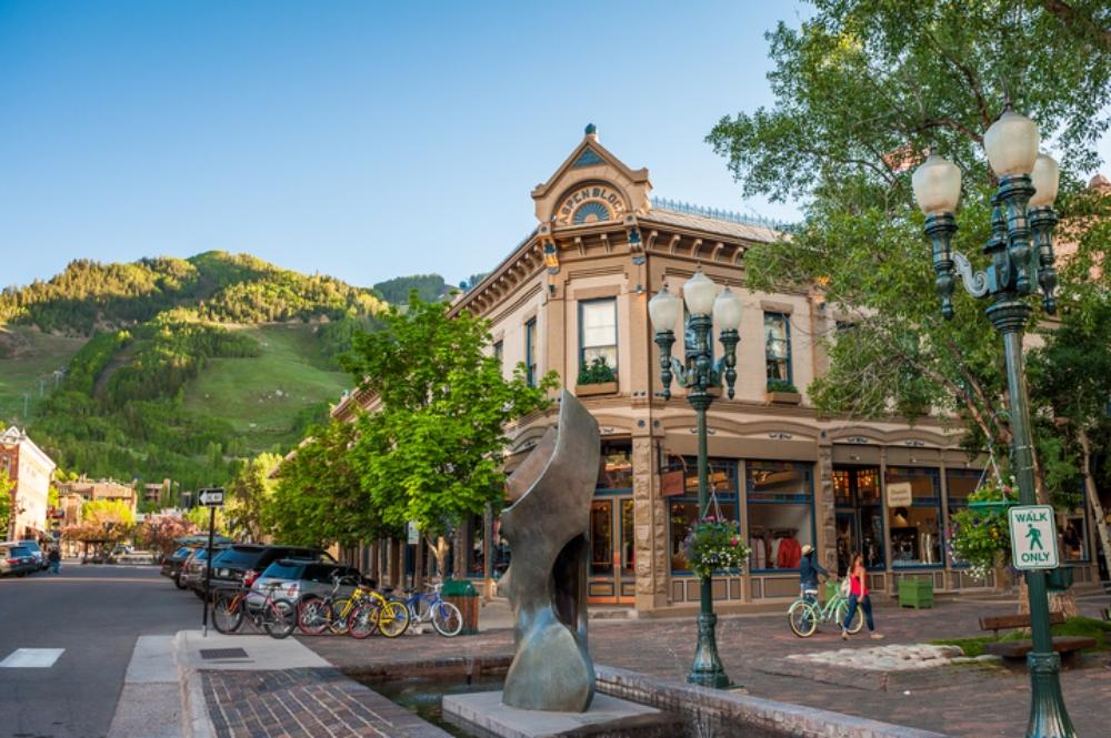 Downtown Aspen, Colorado.