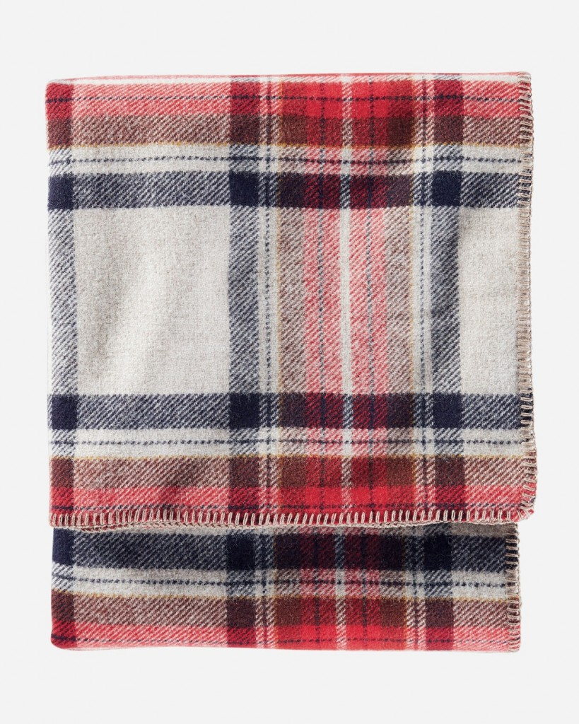 Pendleton Eco Wise Wool Plaid Stripe Blanket