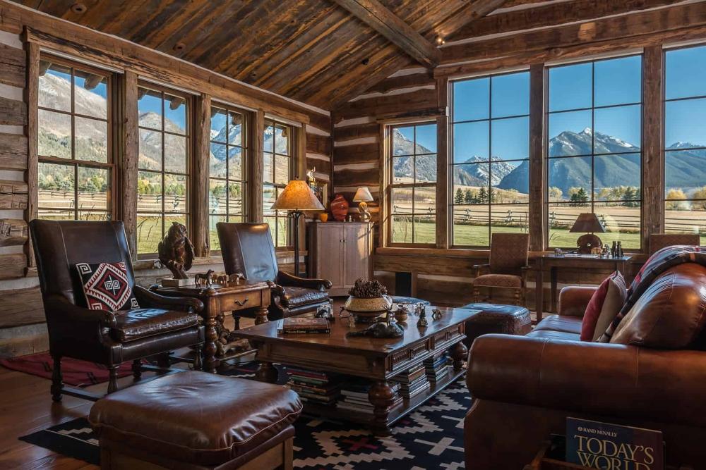 Tremendous Livingroom Views Absaroka Moon Retreat Paradise Valley Retreat Paradise Valey Montana