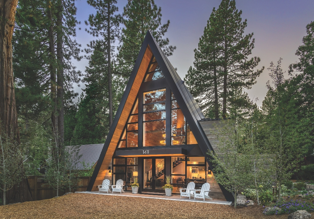 At Home In An A Frame Mountain Living