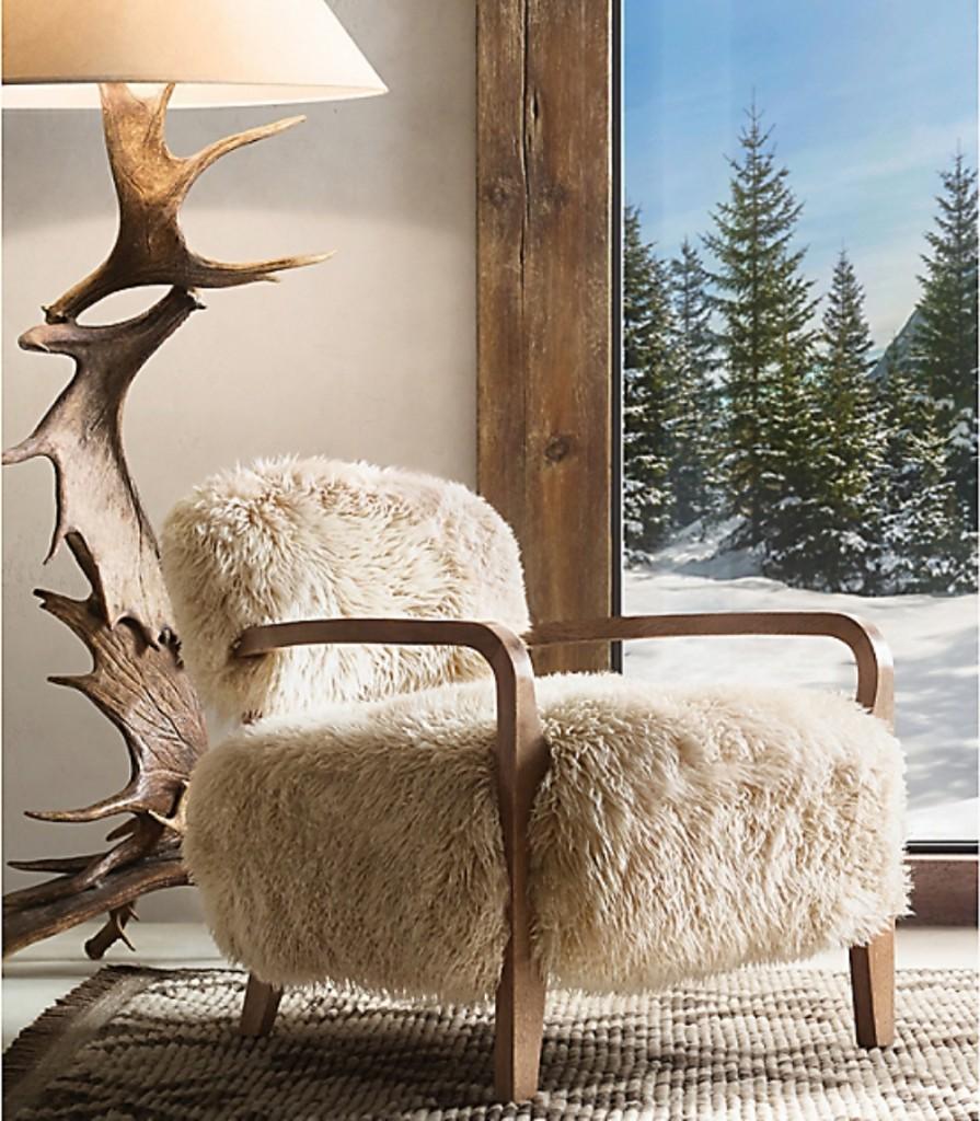 Yeti Sheepskin Arm Chair Rh
