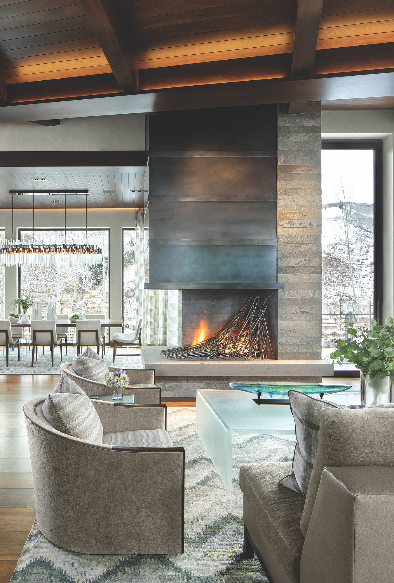 Vail Living Fireplace