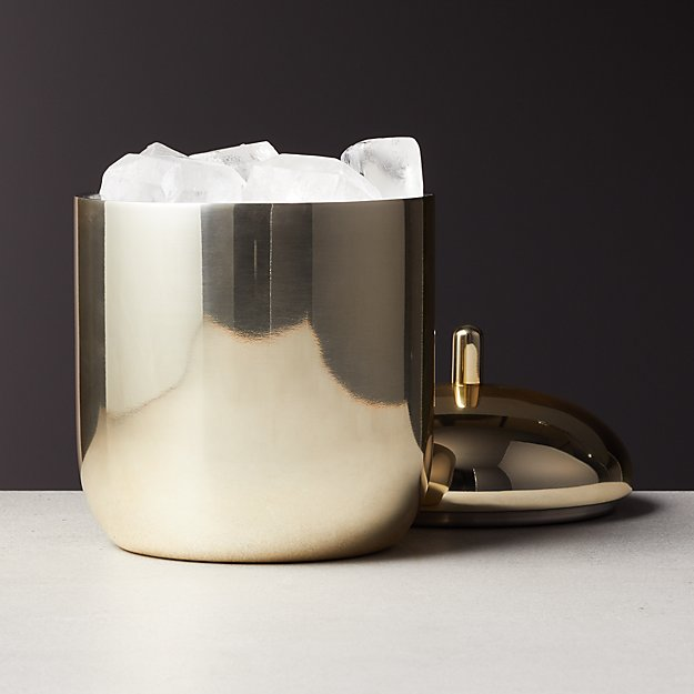 Champagne Gold Ice Bucket Cb2