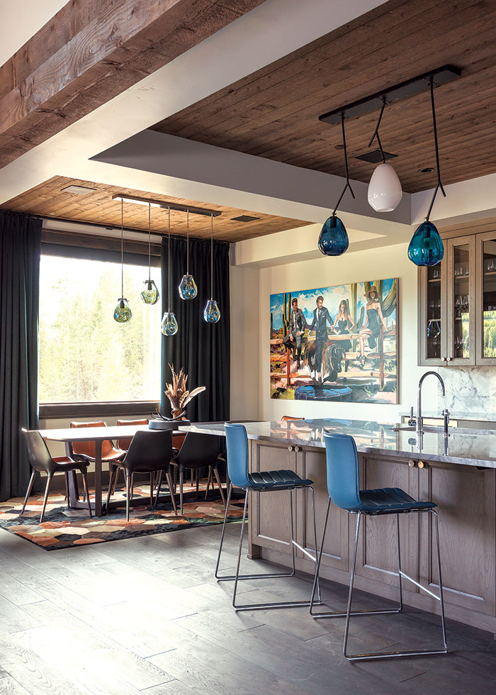 Kitchen Pendants By Ona Magaro2c A Mountain House With A Veterinarian Twist2c Brechbuhler Architects2c Urbaine Home2c Photo By Audrey Hall