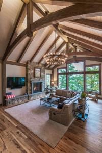 New Energy Works Timber. Frame W Hickory Flooring Cndg Lake C Scott Hemenway 18