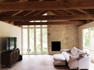 White Finished Sustainable Larch Flooring Fire Island Pioneer Millworks