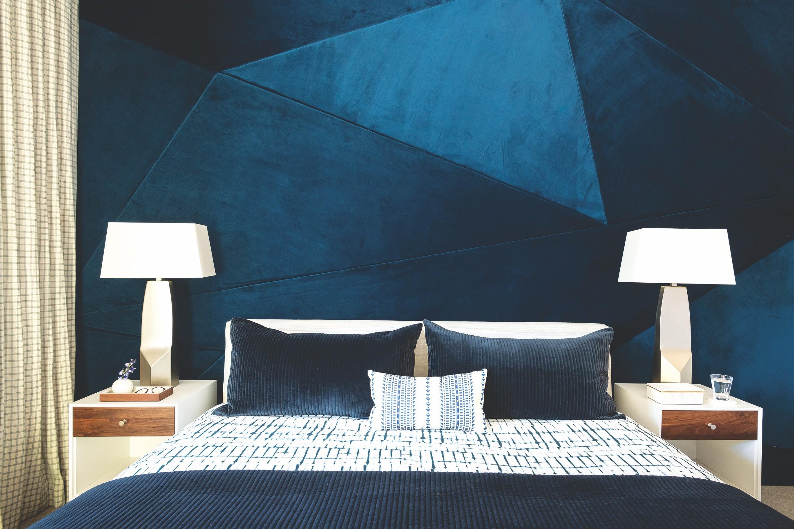 Design Blue Bed