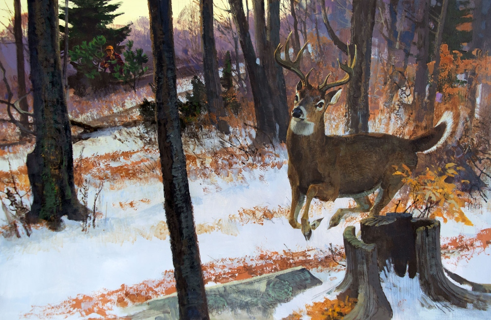 Kuhn Bob 1920 2007 Watch The Buck Runways Acrylic And Conte On Paperboard 165 X 25 New