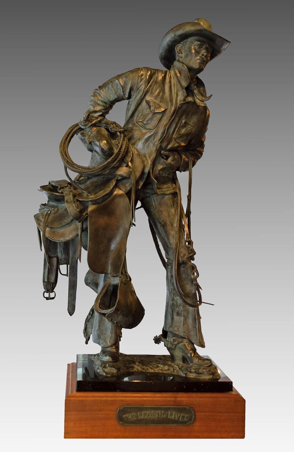 Nebeker Bill 1942 The Legend Lives Bronze 12 36 X 18 X 15