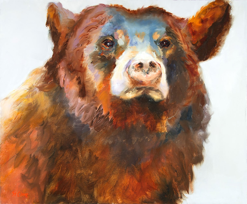 St Clair Linda 1952 2018 Bearfaced Oil On Canvas 30 X 36