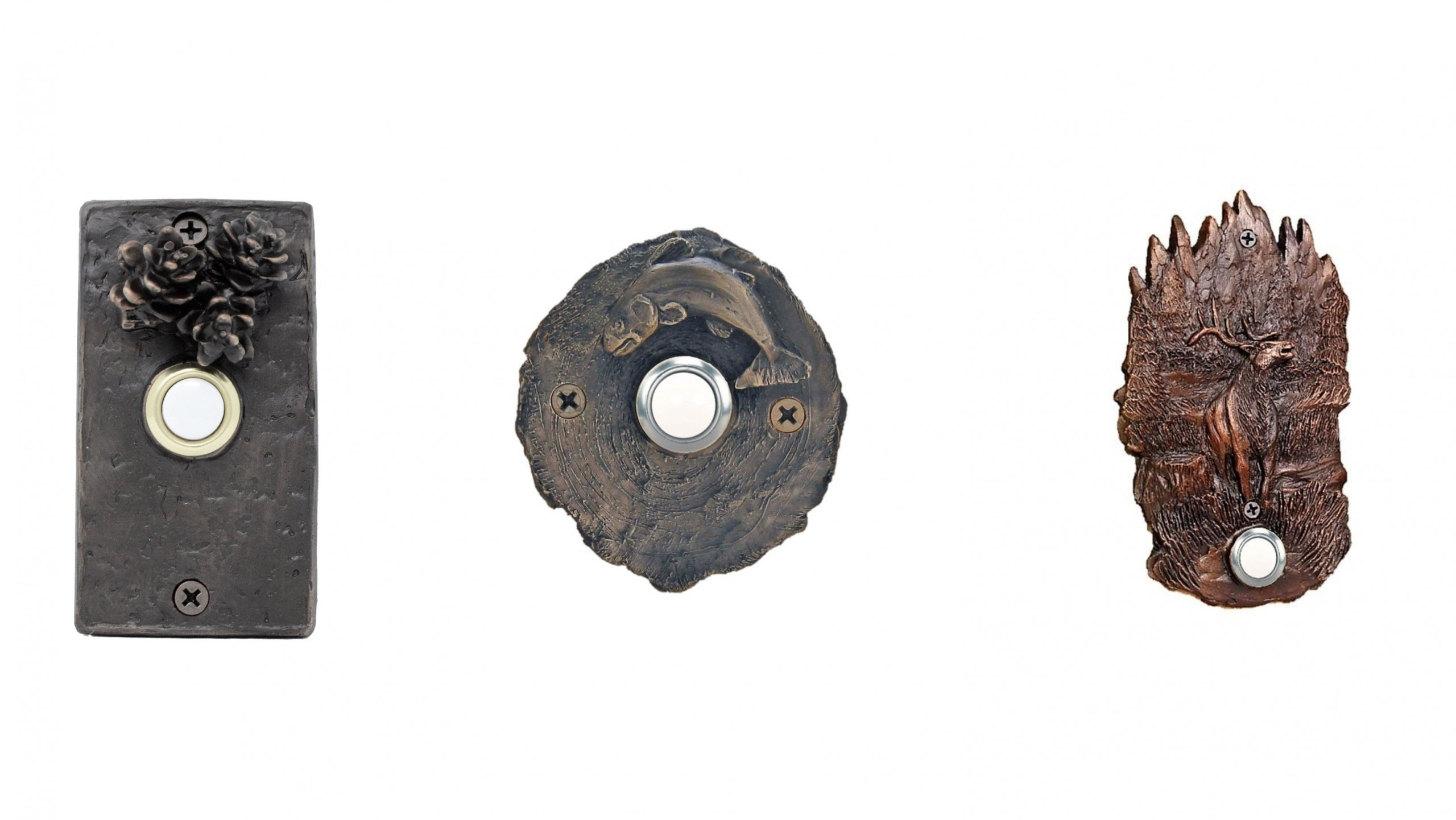 Timber Bronze Doorbells
