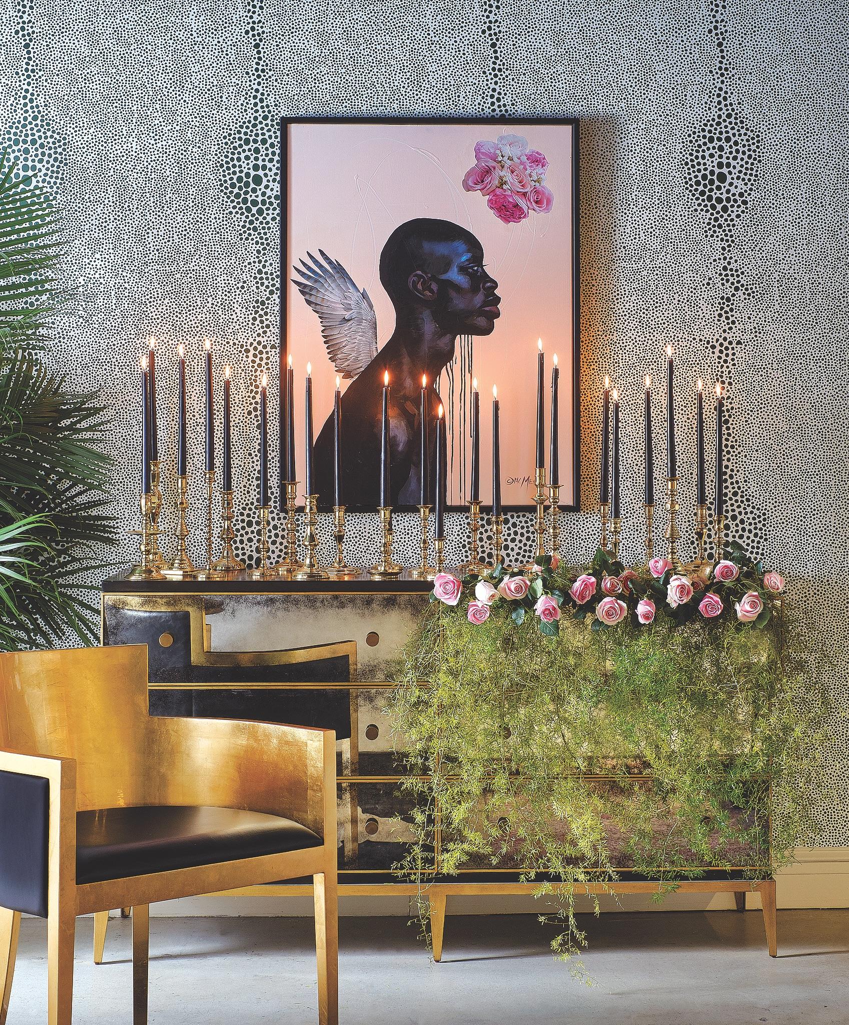 Designer Black Candles
