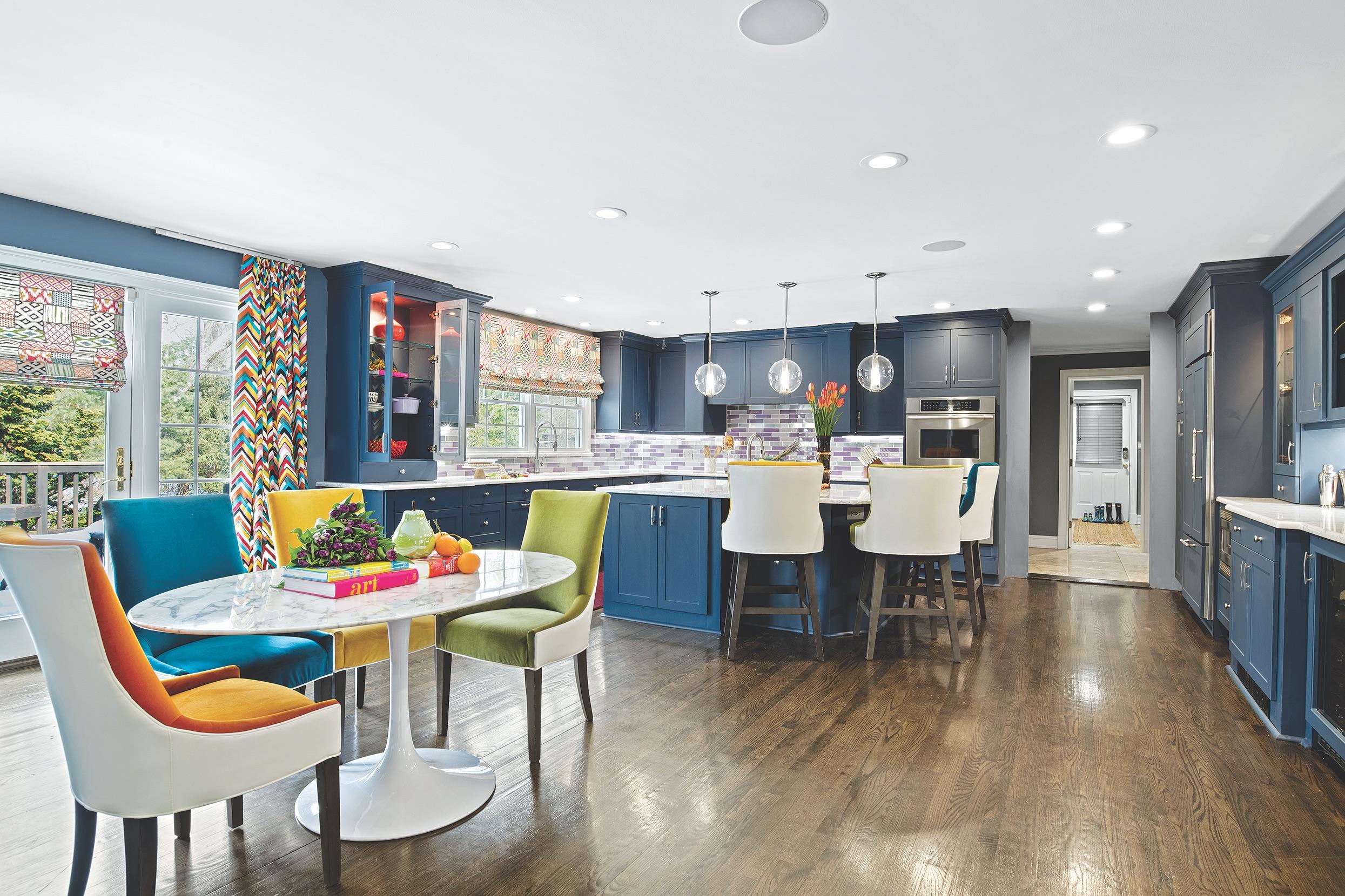 Designer Blue Kitchen