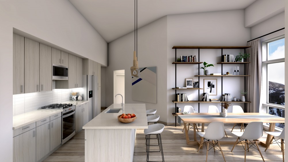 603 Kitchen With Town Background
