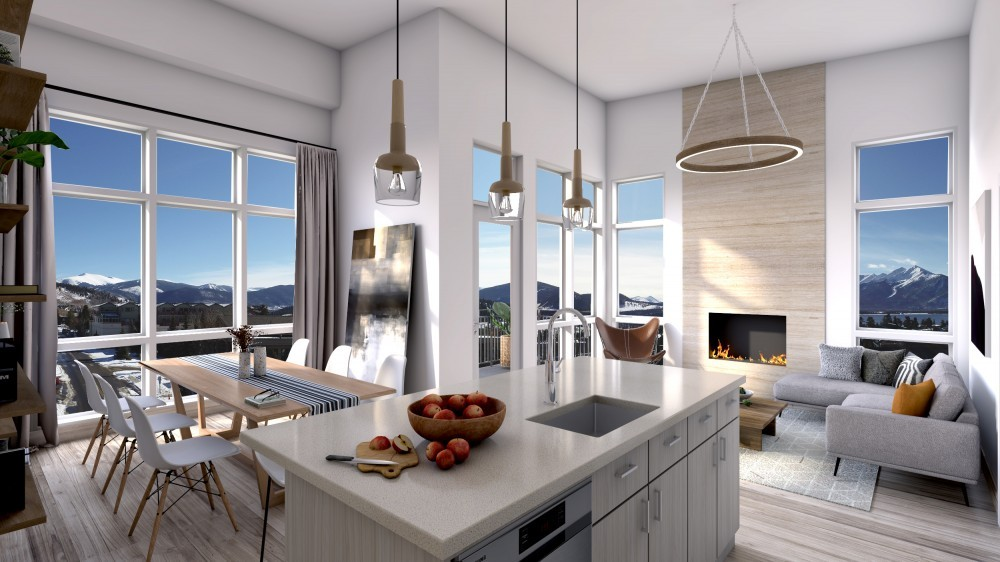 Living Room Unit 603 With Town Background