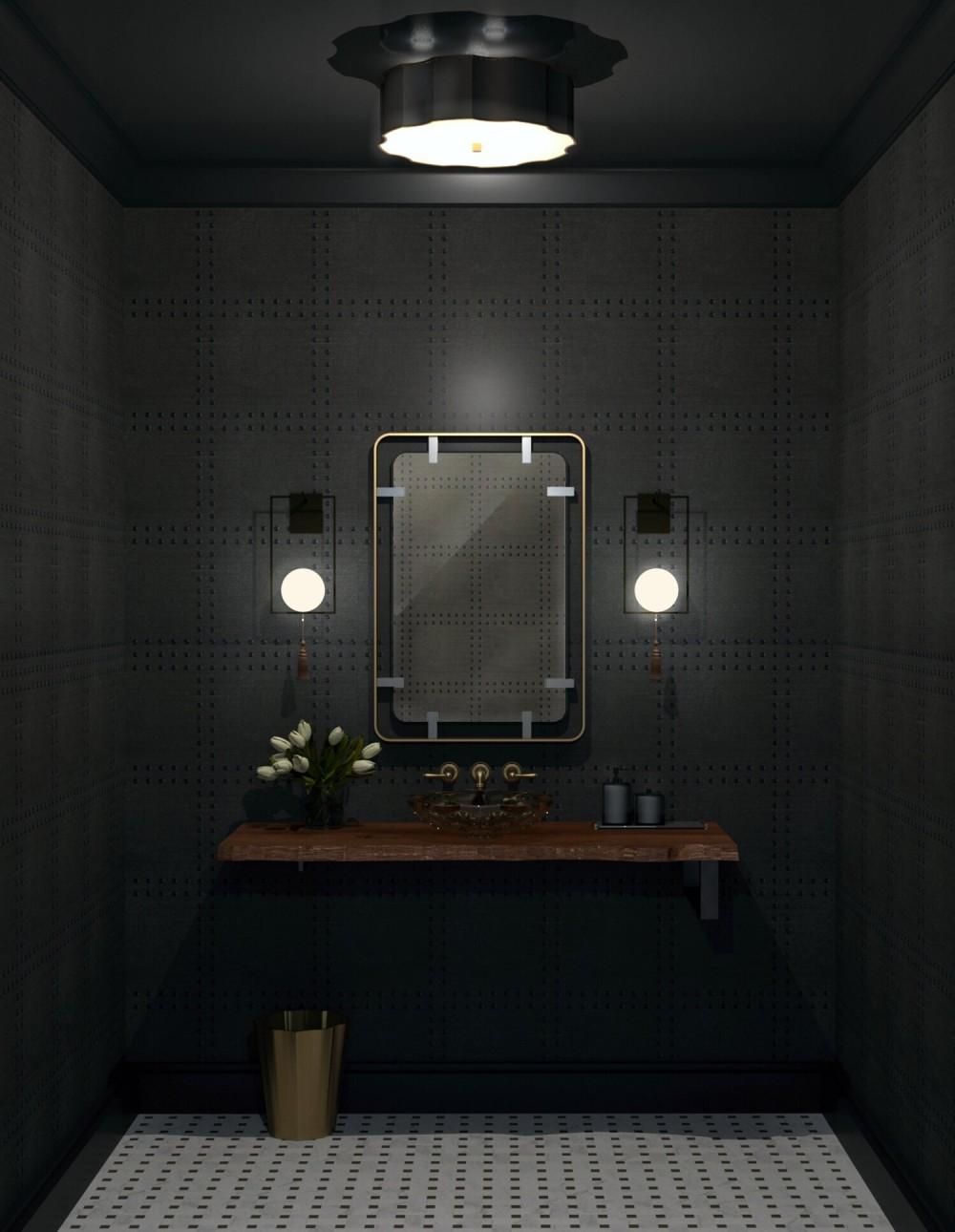 Mountain Home Interior Design Modern Bathroom Vanity