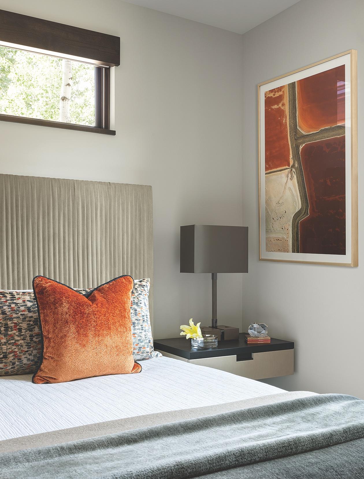 Interiors Oragne Bed