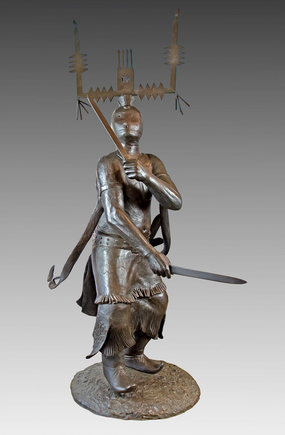 Houser Allan 1914 1994 Dance Of The Mountain Spirits Ii Bronze 4 74 X 43 X 30