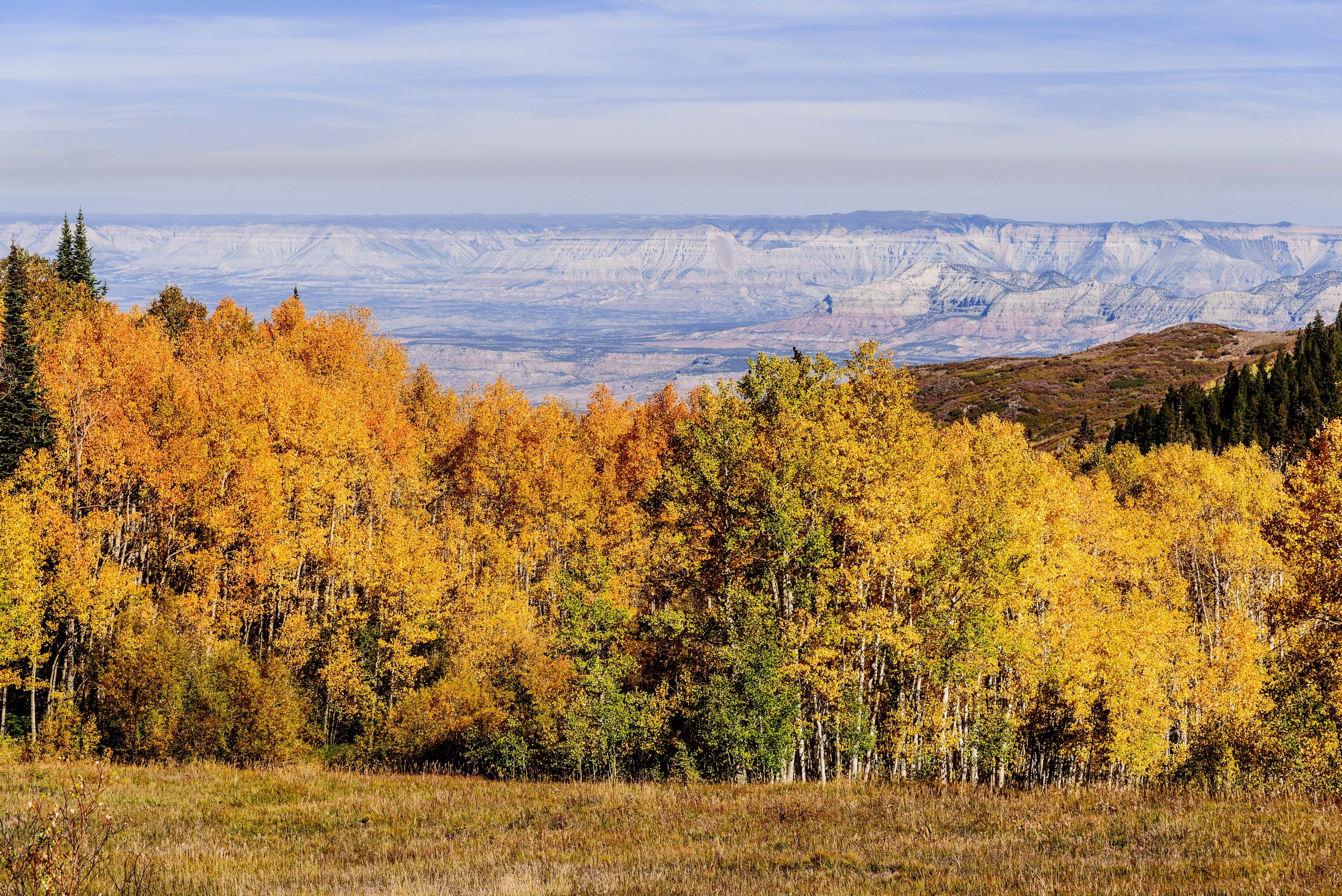 Panoramic,aerial,view,of,grand,mesa,colorado,as,seen,from