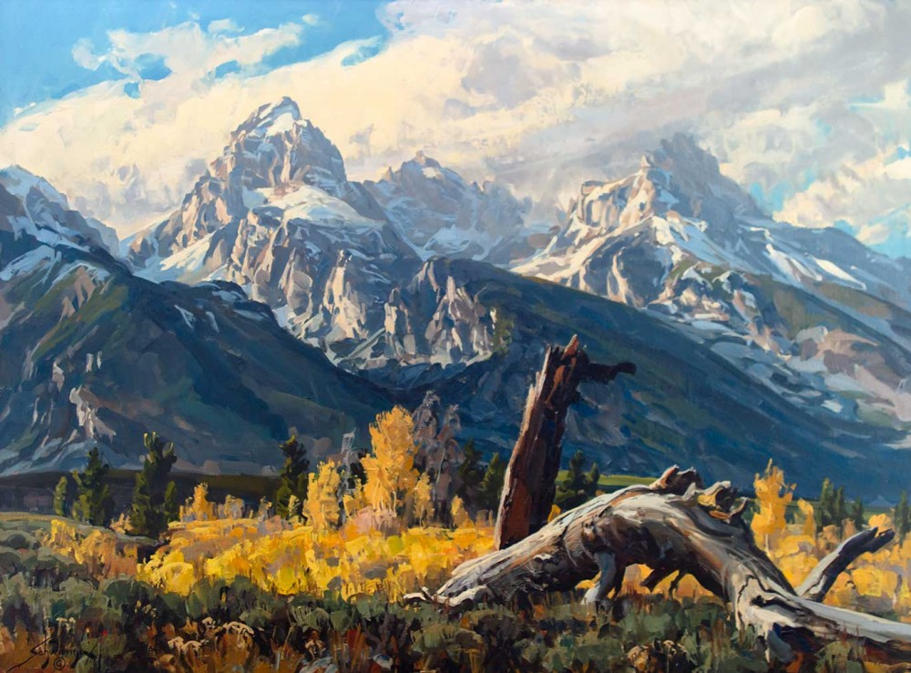 Schwiering Conrad 1916 1986 High Country Autumn Oil On Board 36 X 48