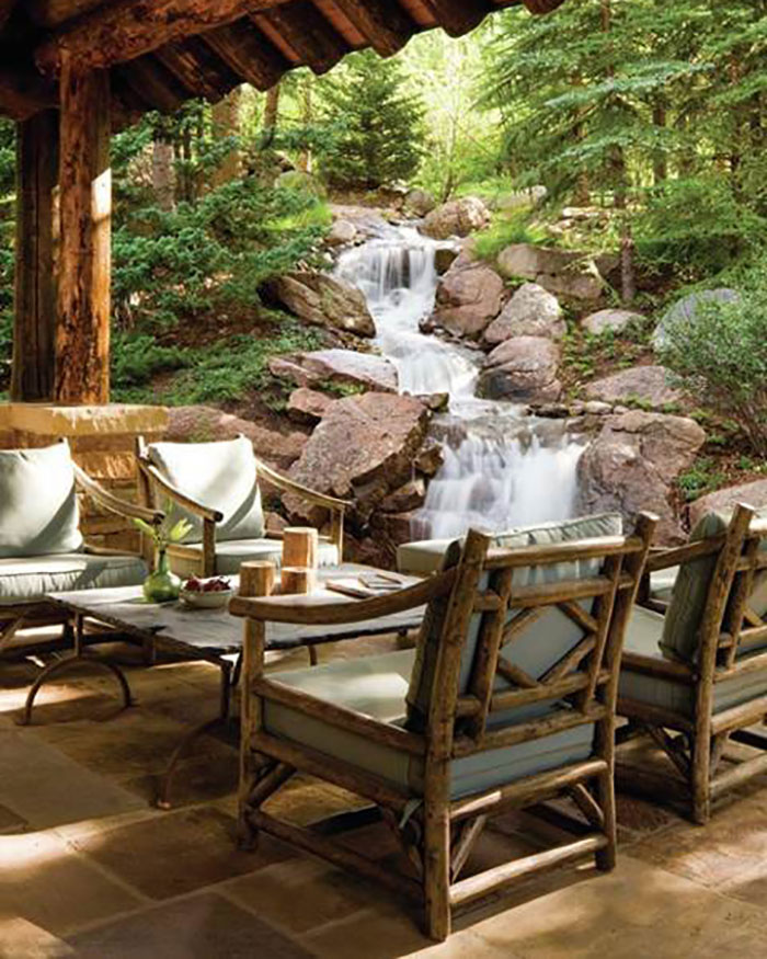 Rustic Patio Furniture Just In Time For, Rustic Outdoor Furniture