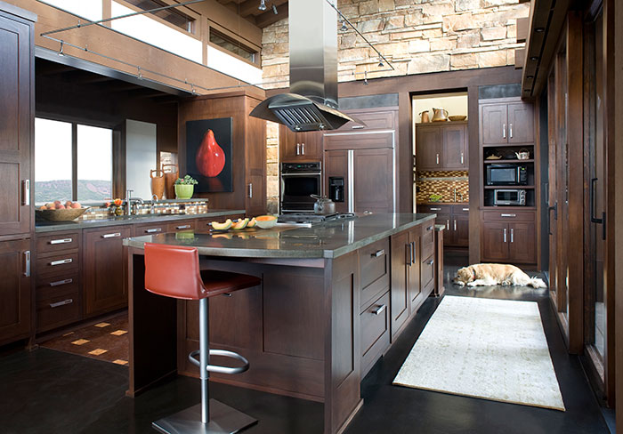 Kitchen, An Equestrian's Dream Ranch in Basalt, Colorado, Shaeffer Hyde Construction, Mountain Living magazine