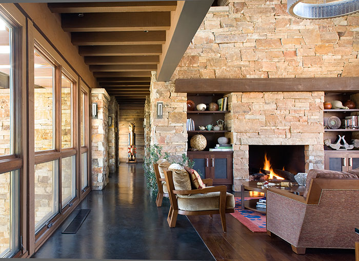 Living room, An Equestrian's Dream Ranch in Basalt, Colorado, Shaeffer Hyde Construction, Mountain Living magazine